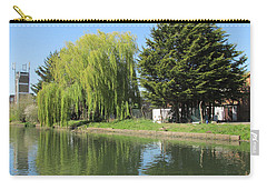 Carry-all Pouch featuring the photograph Jessica Willow Likes David Pine - Grand Union Canal - Park Royal  by Mudiama Kammoh
