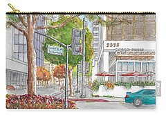 Wilshire Blvd. And Camden Dr. In Beverly Hills, California Carry-all Pouch by Carlos G Groppa