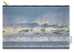 Carry-all Pouch featuring the photograph Wind Swept Waves by Nicholas Burningham