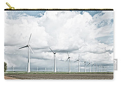 Carry-all Pouch featuring the photograph Wind Turbines Landscape by Hans Engbers