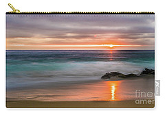 Windansea Beach At Sunset Carry-all Pouch