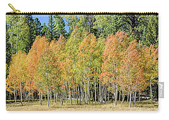 Carry-all Pouch featuring the photograph Windblown Aspen by Gaelyn Olmsted