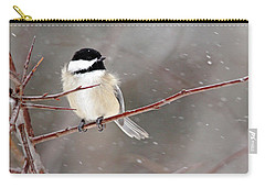 Windblown Chickadee Carry-all Pouch
