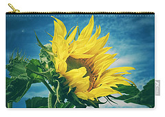 Carry-all Pouch featuring the photograph Windblown  by Karen Stahlros