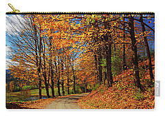 Winding Country Road In Autumn Carry-all Pouch