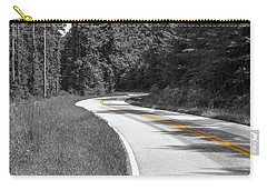 Carry-all Pouch featuring the photograph Winding Country Road In Selective Color by Doug Camara