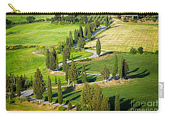 Winding Cypress Lined Road Of Monticchiello Carry-all Pouch by IPics Photography