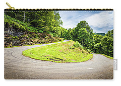 Carry-all Pouch featuring the photograph Winding Road With Sharp Curve Going Up The Mountain by Semmick Photo
