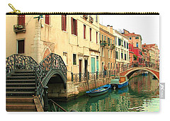 Winding Through The Watery Streets Of Venice Carry-all Pouch by Barbie Corbett-Newmin