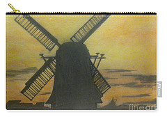 Windmill At Sunset Carry-all Pouch by Francine Heykoop