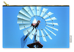 Carry-all Pouch featuring the photograph Windmill - Bright Sunny Day by Ray Shrewsberry