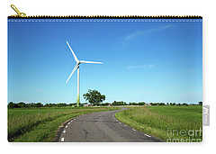 Carry-all Pouch featuring the photograph Windmill By A Country Road Side by Kennerth and Birgitta Kullman
