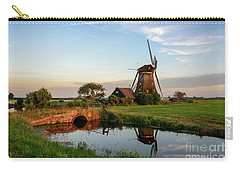 Windmill In The Countryside In Holland Carry-all Pouch by IPics Photography