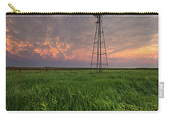 Carry-all Pouch featuring the photograph Windmill Mammatus by Aaron J Groen