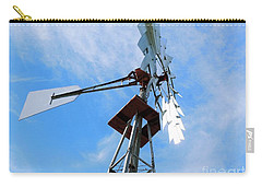 Carry-all Pouch featuring the photograph Windmill - Mildly Cloudy Day by Ray Shrewsberry