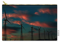 Carry-all Pouch featuring the photograph Windmills At Sunrise by Chris Tarpening