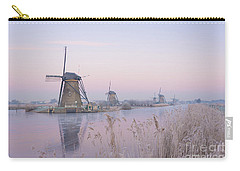 Windmills In The Netherlands In The Soft Sunrise Light In Winter Carry-all Pouch