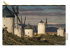 Carry-all Pouch featuring the photograph Windmills Of La Mancha by Heiko Koehrer-Wagner