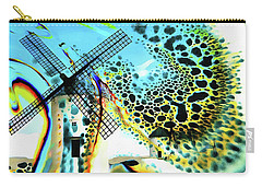 Carry-all Pouch featuring the painting Windmills Of  La Mancha by Valerie Anne Kelly