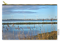 Carry-all Pouch featuring the photograph Windmills On A Windless Morning by Frans Blok
