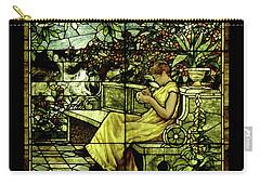 Window - Lady In Garden Carry-all Pouch by Shirley Heyn
