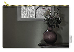 Window And Flowers In Vase Carry-all Pouch