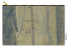 Carry-all Pouch featuring the painting Window In The Bataille Restaurant Paris, February - March 1887 Vincent Van Gogh 1853 - 1890 by Artistic Panda