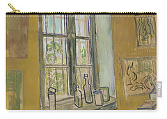 Carry-all Pouch featuring the painting Window In The Studio Saint-remy-de-provence, September - October 1889 Vincent Van Gogh 1853 - 1890 by Artistic Panda