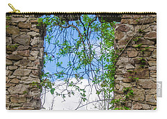 Carry-all Pouch featuring the photograph Window Ruin At Bridgetown Millhouse Bucks County Pa by Bill Cannon