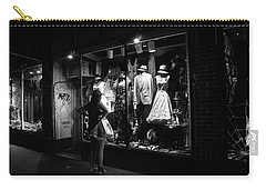 Window Shopping In Black And White Carry-all Pouch