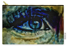 Windows Into The Soul Eye Painting Closeup All Seeing Eye In Blue Pink Red Magenta Yellow Eye Of Go Carry-all Pouch