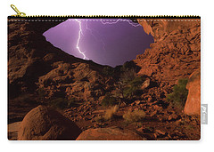 Carry-all Pouch featuring the photograph Windows Storm by Darren White