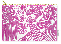 Carry-all Pouch featuring the drawing Winds Tess by Edward Fielding