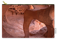 Carry-all Pouch featuring the photograph Windstone Arch by Patricia Davidson