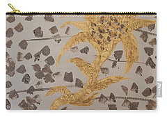 Windswept Golden Plantae #4 Carry-all Pouch by Rachel Hannah