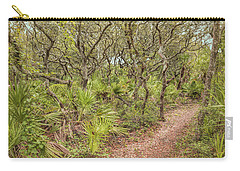 Carry-all Pouch featuring the photograph Windswept Hammock by John M Bailey