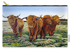 Windswept Highland Cattle  Carry-all Pouch