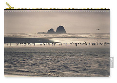Carry-all Pouch featuring the photograph Windy Balmy Day At The Beach by Tikvah's Hope