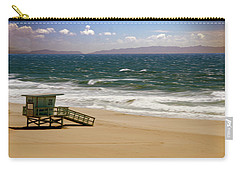 Carry-all Pouch featuring the photograph Windy Beach Day by Joseph Hollingsworth