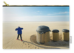 Carry-all Pouch featuring the photograph Windy Beach by Hans Engbers