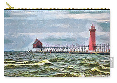 Windy Day At Grand Haven Lighthouse Carry-all Pouch