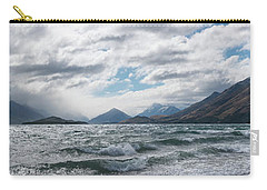 Carry-all Pouch featuring the photograph Windy Day On Lake Wakatipu by Gary Eason