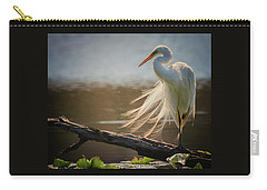 Windy Egret  Carry-all Pouch