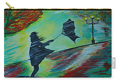Windy Escapade Carry-all Pouch by Leslie Allen