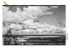 Carry-all Pouch featuring the photograph Windy Morning On Lake Michigan by Michelle Calkins