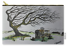 Carry-all Pouch featuring the painting Windy Ridge by Jack G Brauer