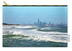 Windy View Of Nyc From Sandy Hook Nj Carry-all Pouch