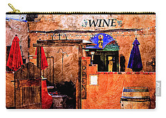 Carry-all Pouch featuring the photograph Wine Bar Of The Southwest by Barbara Chichester