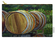 Wine Barrels Carry-all Pouch by Donna Walsh