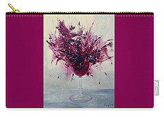 Wine Bouquet Carry-all Pouch by T Fry-Green